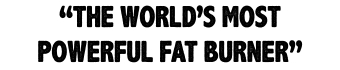 World's Most Powerful Fat Burner